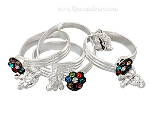 Beautify Your Feet With Sterling Silver Toe Rings at Queenzdesire
